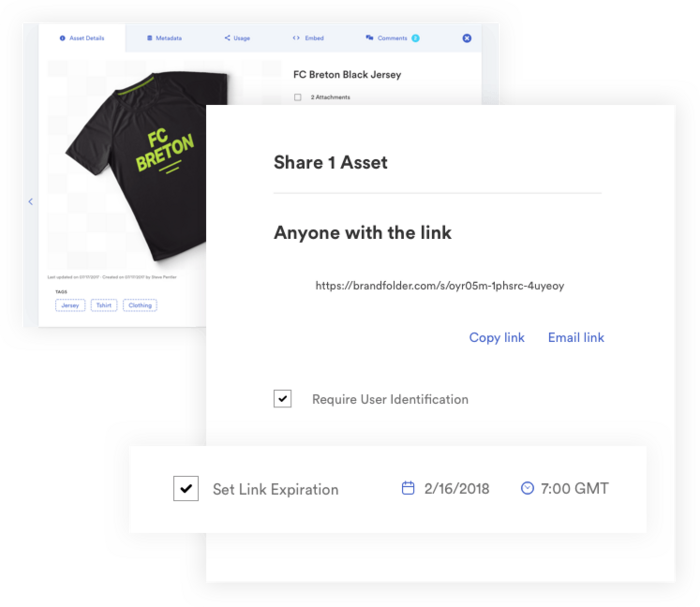 example of sharing assets